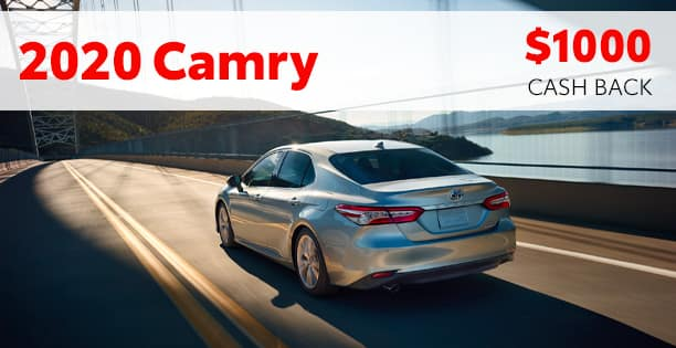 $1000 Cash Back on Camry