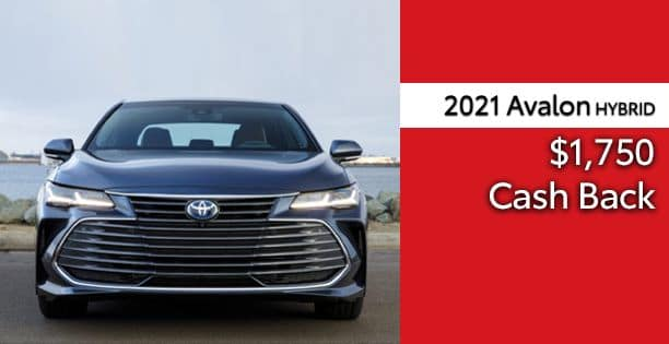 2021 Avalon Hybrid Cash Back Special