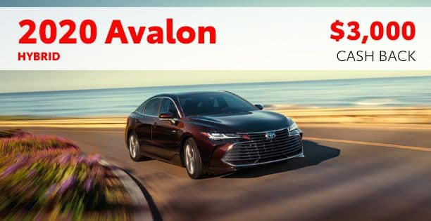 2020 Avalon Hybrid Cash Back Special