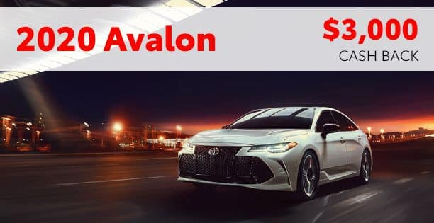 2020 Avalon Customer Cash Special