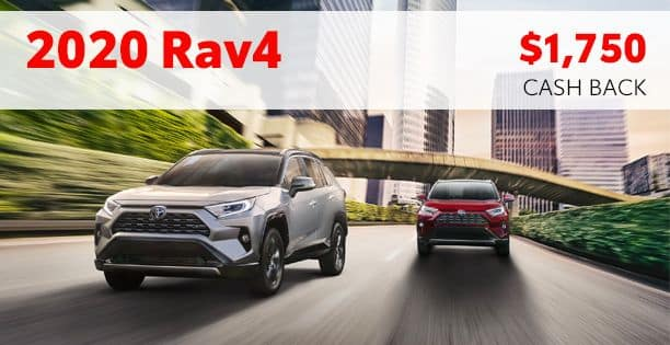 2020 Rav4 Cash Back Special