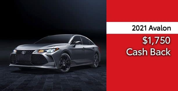 2021 Avalon Cash Back Special