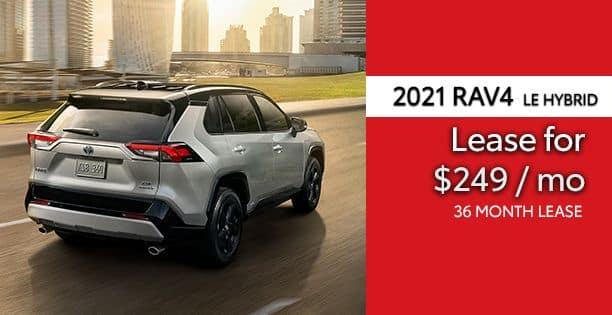 2021 Rav4 Hybrid LE Lease Special