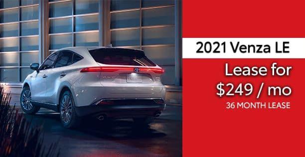 2021 Venza LE Lease Special