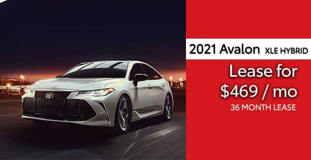2021 Avalon Hybrid Lease Special
