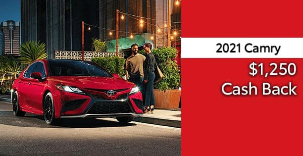 2021 Camry Cash Back Special