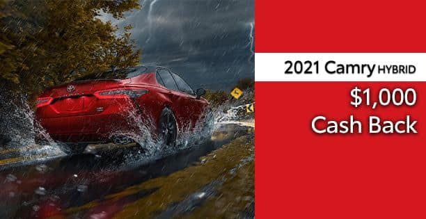 2021 Camry Hybrid Cash Back Special