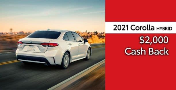 2021 Corolla Hybrid Cash Back Special