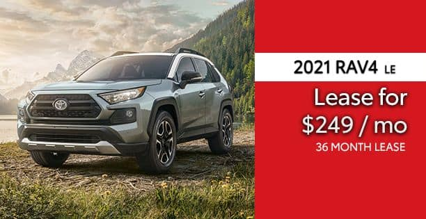 2021 Rav4 LE Lease Special