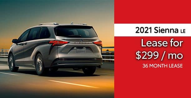 2021 Sienna LE Lease Special