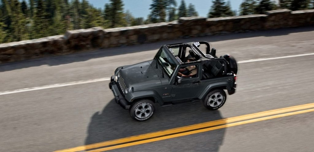 2017 Jeep Wrangler on the highway
