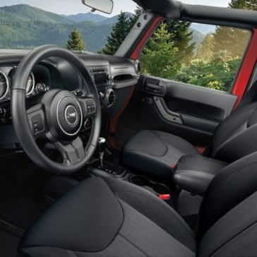 2017 Jeep Wrangler interior seating