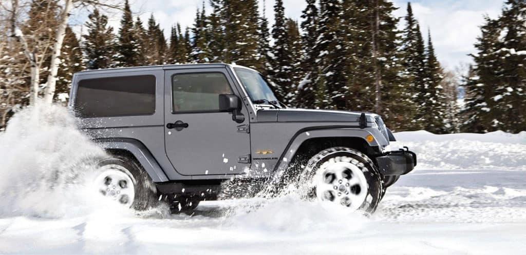 2017 Jeep Wrangler in Snow
