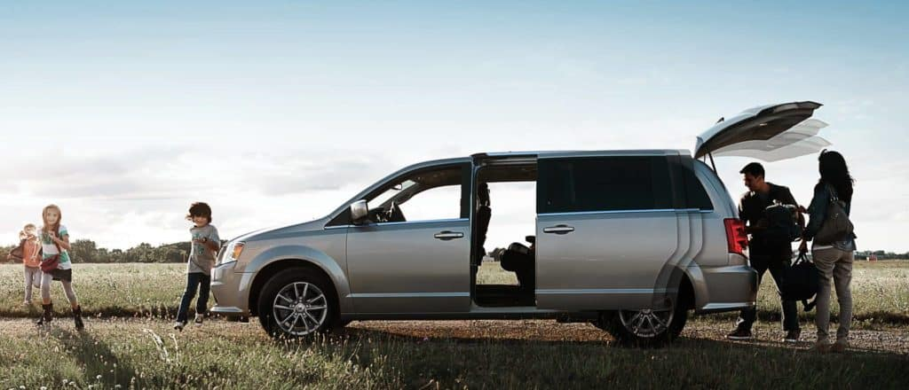 2018 Dodge Grand Caravan beach scene