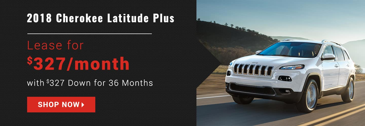 2018 Jeep Cherokee Latitude Plus Offers Banner