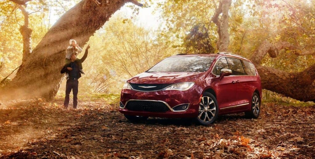 2018 Chrysler Pacifica parked in a forest