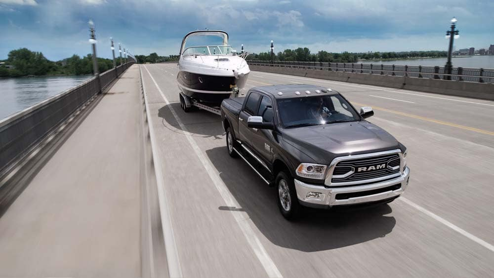 2018 Ram 2500 towing a boat