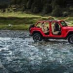 Jeep Wrangler Rubicon traveling through water