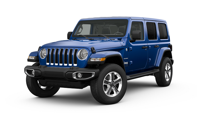 Jeep Wrangler Sahara Ocean Blue