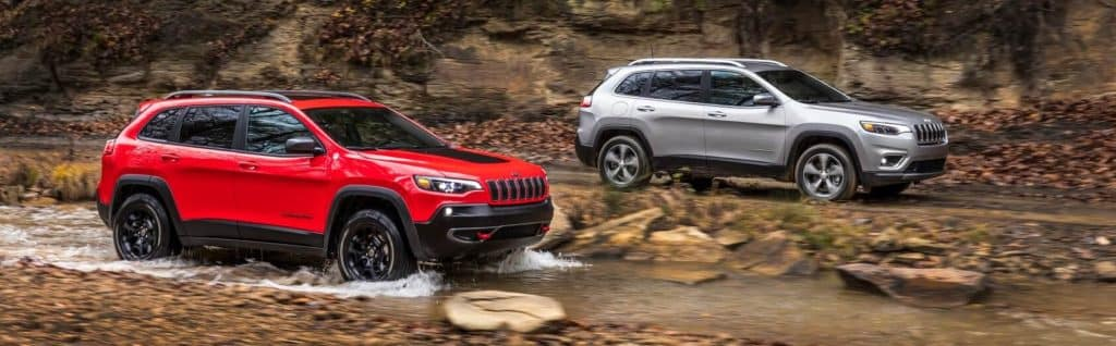 Jeep Cherokee Limited Silver - Jeep Cherokee Trailhawk Red