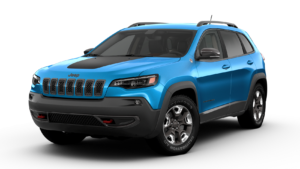 Jeep Cherokee Trailhawk in Hydro Blue Pearl Coat