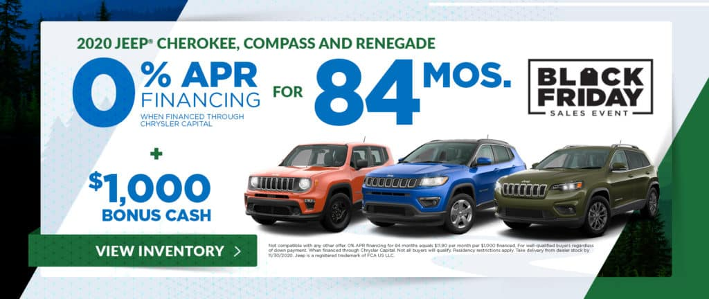 2020 Jeep Cherokee, Compass and Renegade