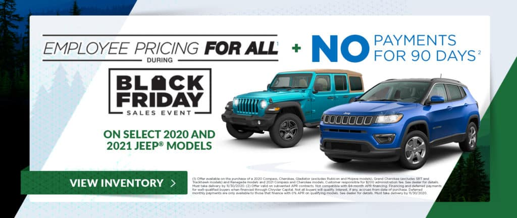 Select 2020 and 2021 Jeep Models