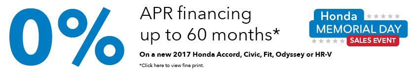 Memorial Day Honda Finance Special