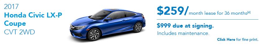 2017 Honda Civic LX-P July Special