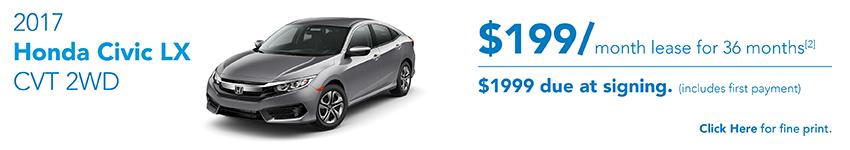 Honda Civic October Offer Austin
