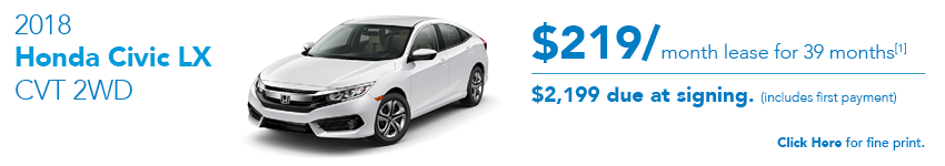 2018 Honda Civic LX Special Offer Austin