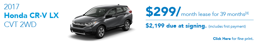 2017 Honda CR-V LX December Offer Austin