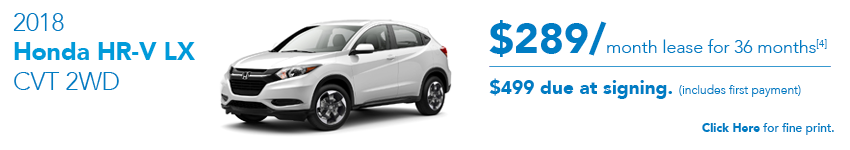 Honda HR-V April 2018 Special