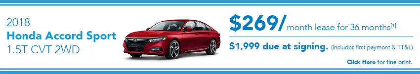 Honda Accord Sport Lease Offer