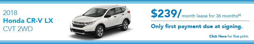 Honda CRV Lease Offer
