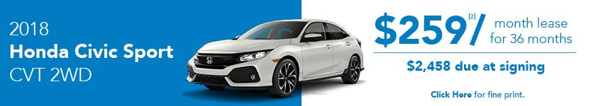 Honda Civic Sport Lease Offer