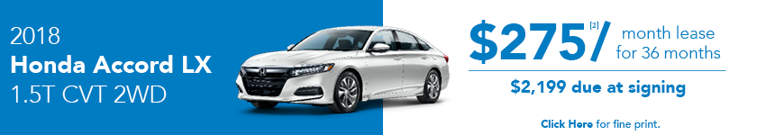 Honda Accord Lease Offer