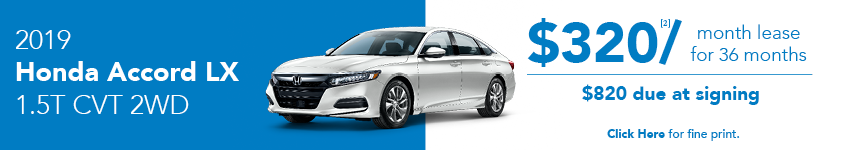 2019 Honda Accord LX April Lease Offer in Austin