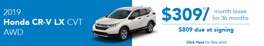 2019 Honda CR-V LX April Lease Offer in Austin