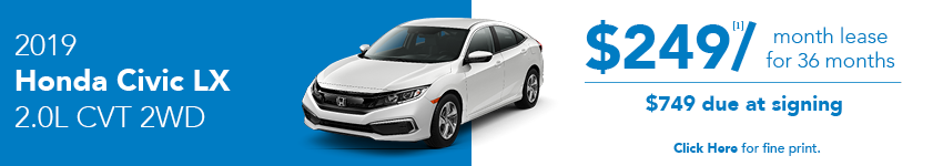 2019 Honda Civic LX April Lease Offer in Austin