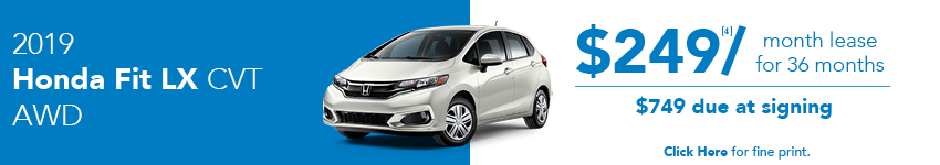 2019 Honda Fit LX April Lease Offer in Austin