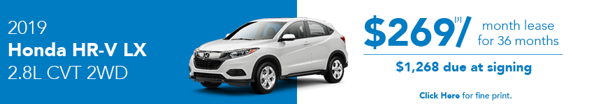 2019 Honda HR-V LX April Lease Offer in Austin