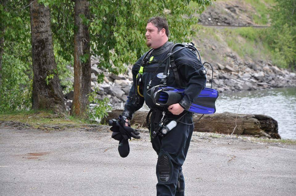 Service Manager David Fox in Scuba Gear
