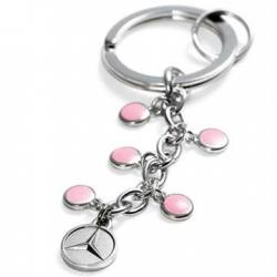 Pink Multi-Charm Key Ring