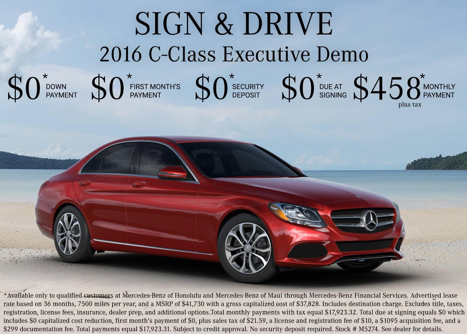 Sign And Drive Event 0 Down C Class Mercedes Benz Of