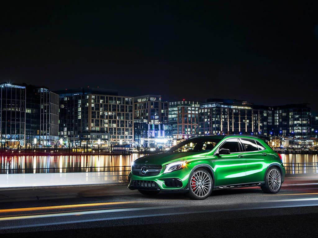 Mercedes-Benz GLA Kyptonite Green Metallic
