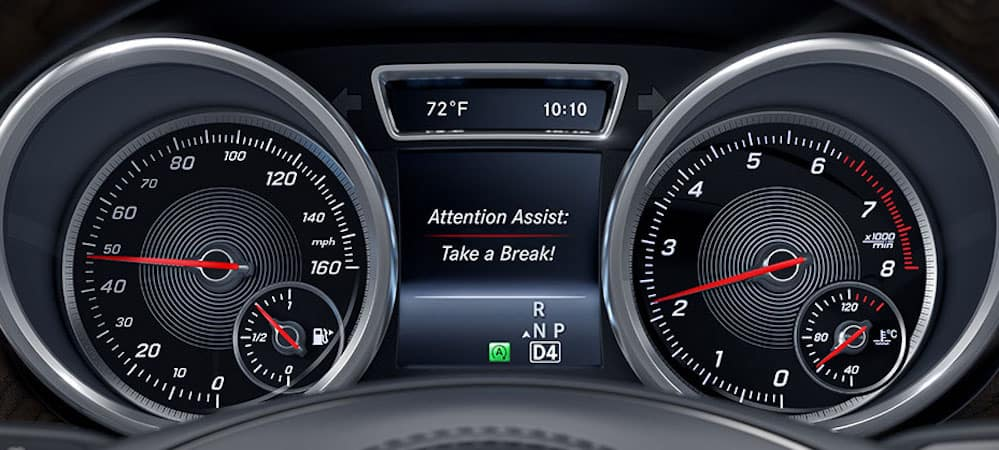 ATTENTION ASSIST display on Mercedes-Benz GLS dash
