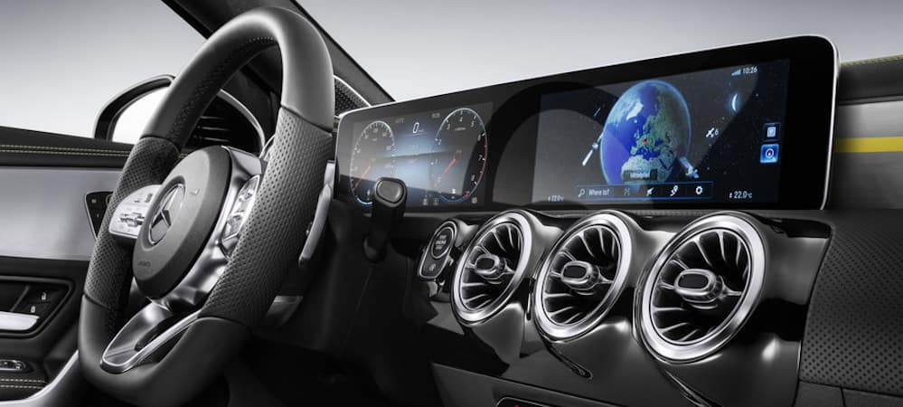 MBUX display on Mercedes-Benz gauge cluster