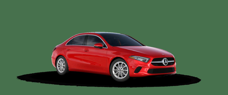 2020 Mercedes-Benz A-Class sedan in red