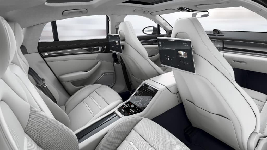 Porsche Panamera Interior rear seat entertainment